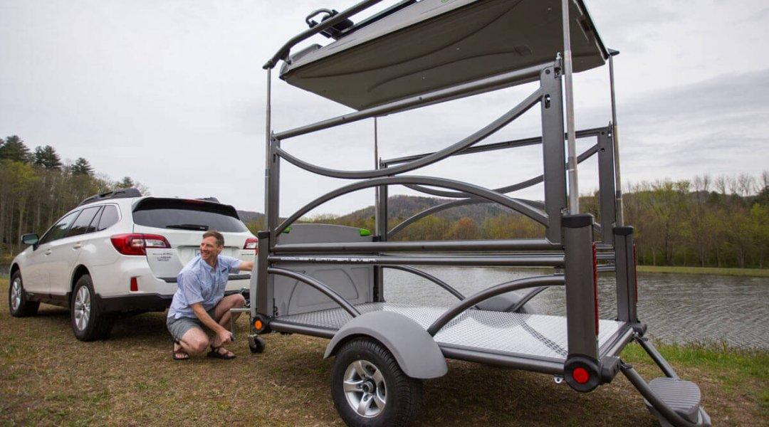 GO versatile ATV trailer and pop up camper