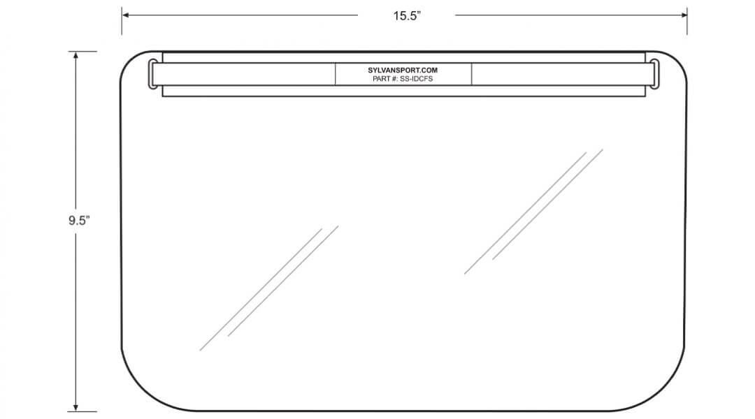 SylvanSport-Face-Shield-PPE-dimensions