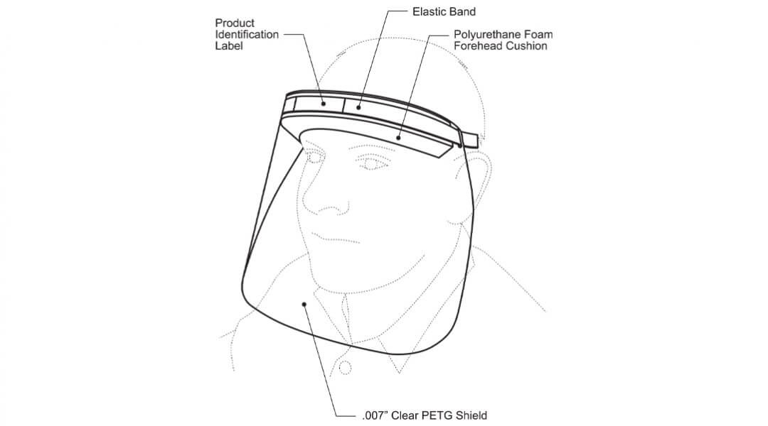 SylvanSport-Face-Shield-PPE-materials